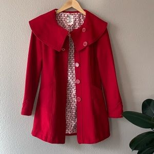 Tulle Jackets & Coats - Red Pea Coat by Tulle